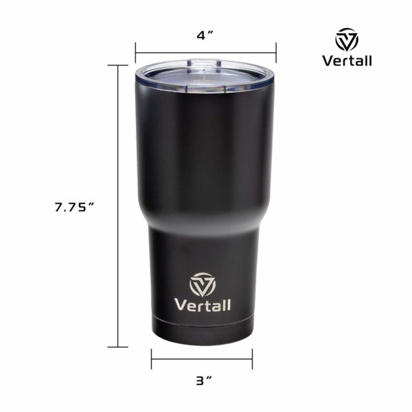 Vertall Stainless Steel 30oz Travel Tumbler, BPA Free, Double Wall Vacuum Insulated