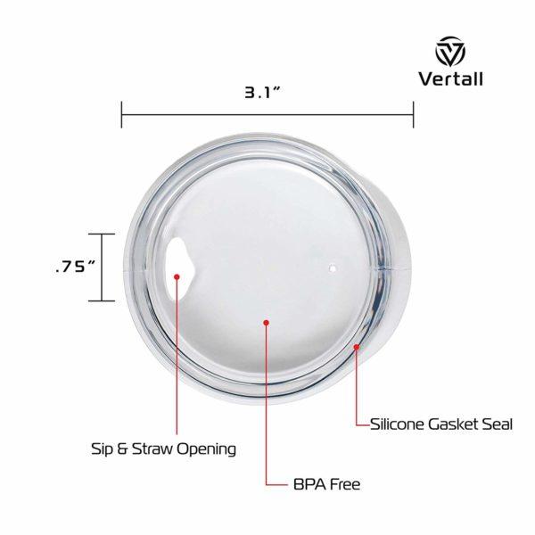 Vertall Stainless Steel Tumbler 12oz 2-pack