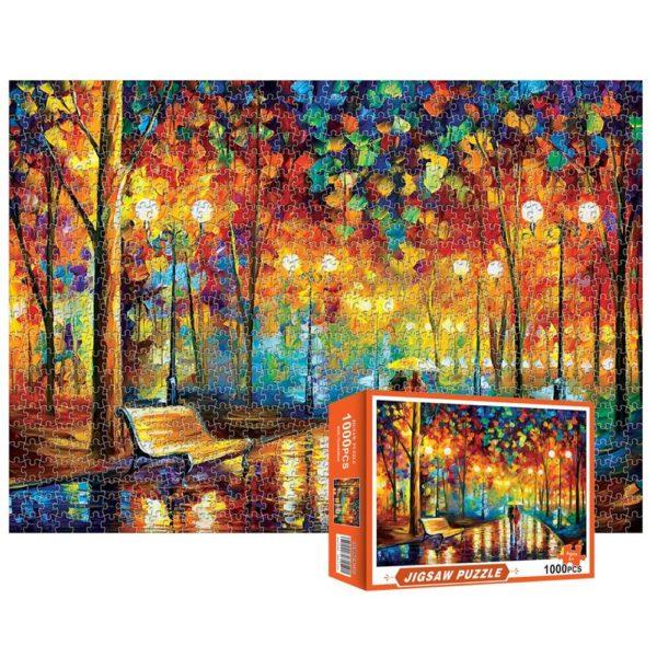 Vertall 1000 piece puzzle Rainy Night
